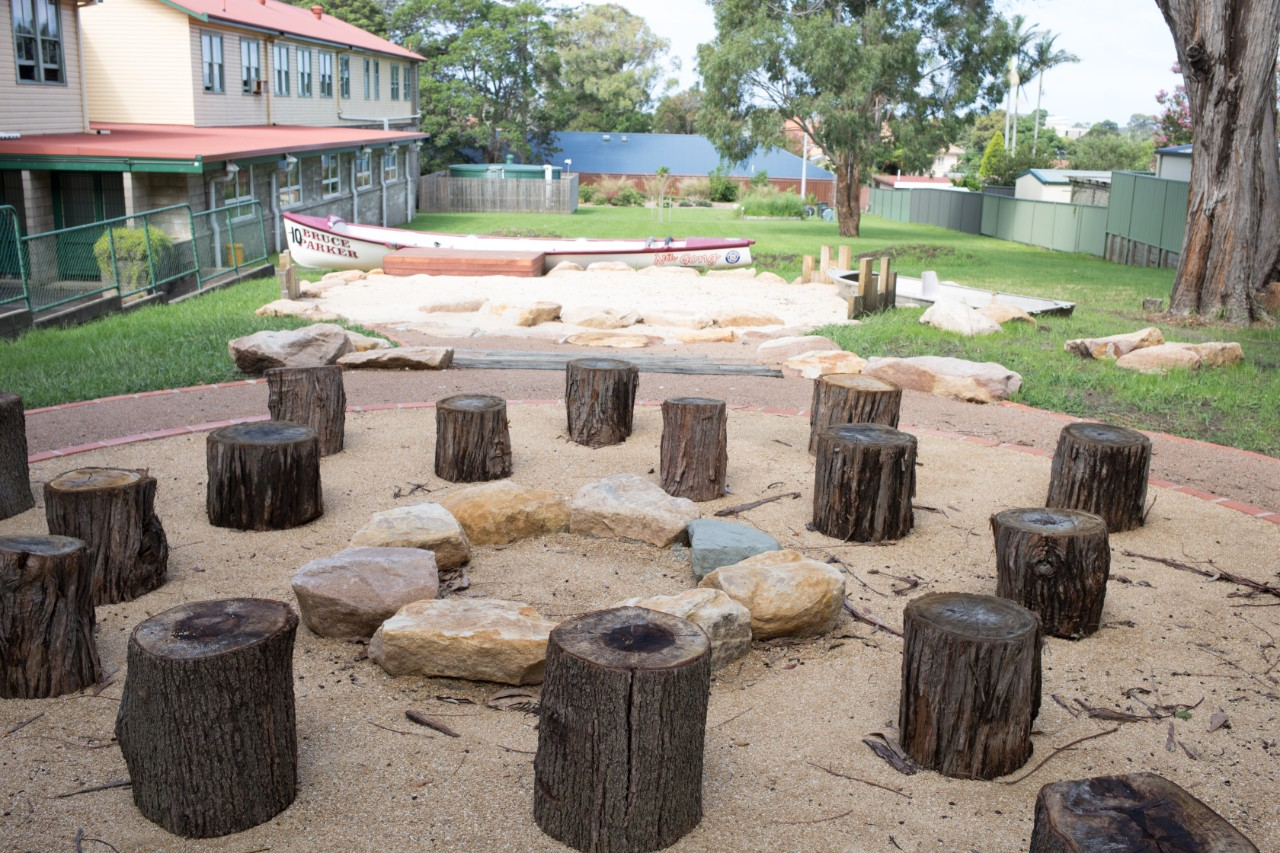 Empty outdoor learning area